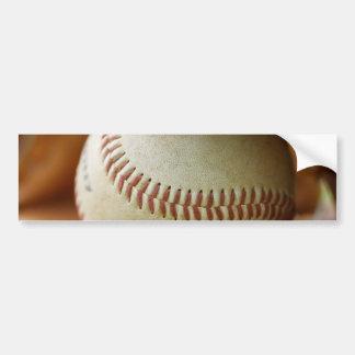 Guante y bola de béisbol pegatina de parachoque