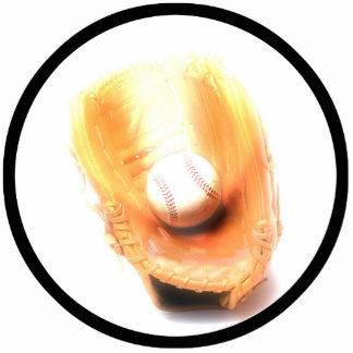 Guante y bola de béisbol esculturas fotograficas