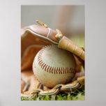 Guante y bola de béisbol impresiones