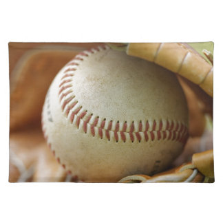 Guante y bola de béisbol manteles