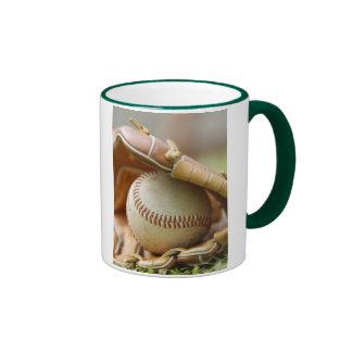Guante y bola de béisbol taza de dos colores