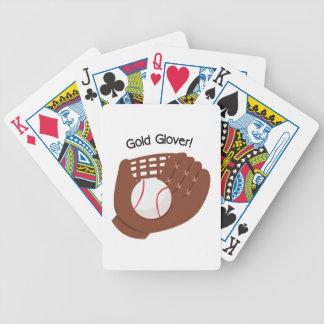 Guantero del oro barajas de cartas