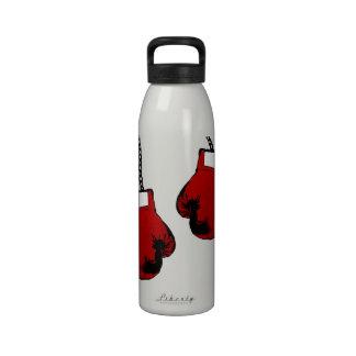 Guantes de boxeo botellas de agua reutilizables