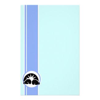 Guantes de boxeo; azul papelería de diseño