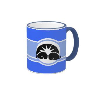 Guantes de boxeo; azul taza de café