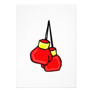 guantes de boxeo colgantes rojos y amarillos anuncio personalizado