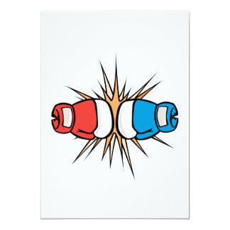 """guantes de boxeo de coincidencia invitación 5"""" x 7"""""""