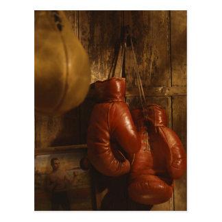 Guantes de boxeo postales