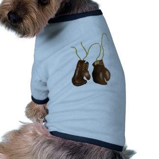Guantes de boxeo realistas ropa para mascota