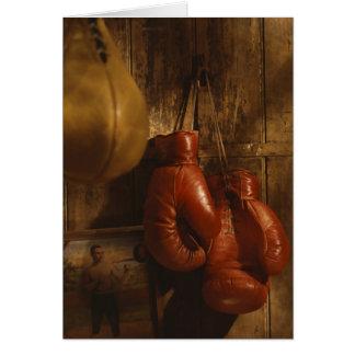 Guantes de boxeo tarjeta de felicitación