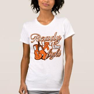 Guantes del cáncer del riñón listos para el Fight. Camisetas