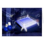 Guantes del ring de boxeo tarjeta