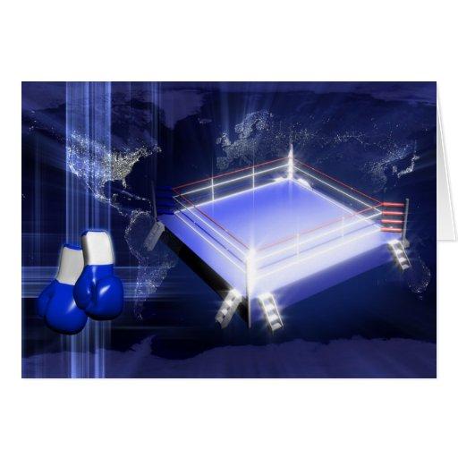Guantes del ring de boxeo tarjeta de felicitación
