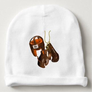 Guantes y casco de boxeo del vintage gorrito para bebe