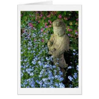 Guanyin and Forget-Me-Nots, photograph Card