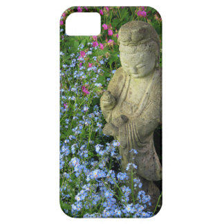 Guanyin and Forget-Me-Nots, photograph iPhone SE/5/5s Case