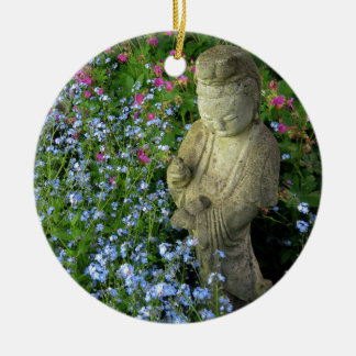 Guanyin and Forget-Me-Nots, photograph Christmas Ornaments