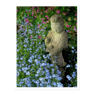 Guanyin and Forget-Me-Nots, photograph Postcard