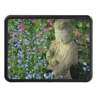Guanyin and Forget-Me-Nots, photograph Tow Hitch Cover