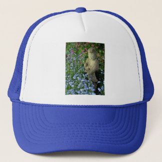 Guanyin and Forget-Me-Nots, photograph Trucker Hat