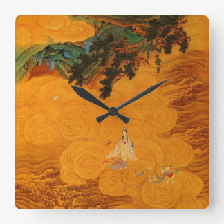 Guanyin in the Tidal Sound cave Square Wall Clock