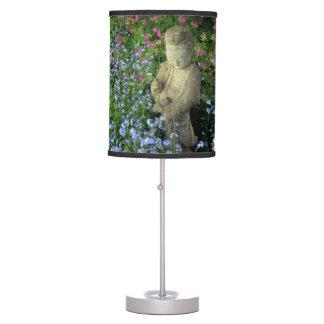 Guanyin y nomeolvides, fotografía lámpara de mesa