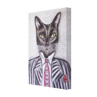 """""""Guapo"""" A Portrait of a Handsome Cat Canvas Print"""