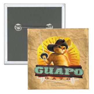 Guapo Gato 2 Inch Square Button