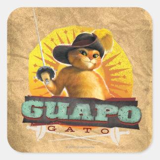 Guapo Gato Square Sticker