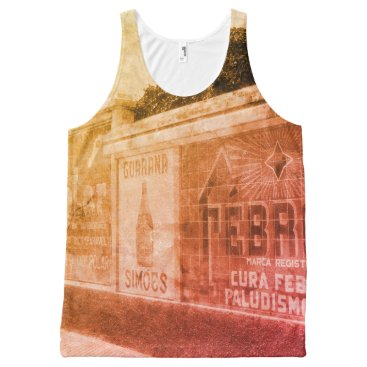 Beach Themed Guarani Advert 1920s Brazil Photo Tropical Beach All-Over-Print Tank Top