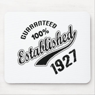 Guaranteed 100% Established 1927 Mouse Pad