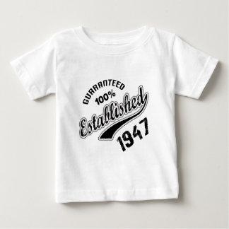Guaranteed 100% Established 1947 Baby T-Shirt