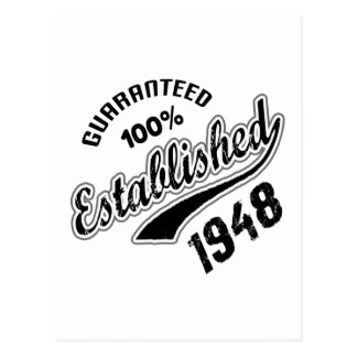 Guaranteed 100% Established 1948 Postcard
