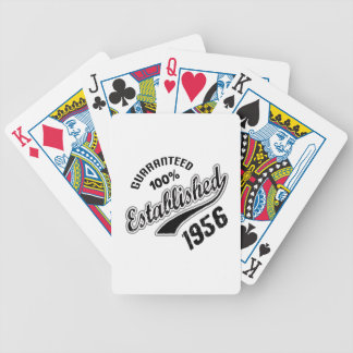 Guaranteed 100% Established 1956 Bicycle Playing Cards