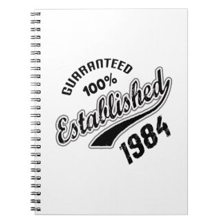 Guaranteed 100% Established 1984 Spiral Notebook