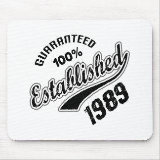 Guaranteed 100% Established 1989 Mouse Pad