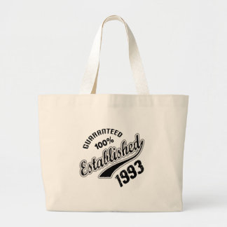 Guaranteed 100% Established 1993 Large Tote Bag