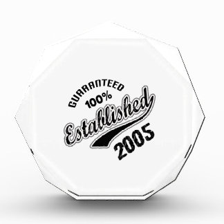 Guaranteed 100% Established 2005 Acrylic Award