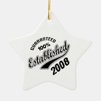 Guaranteed 100% Established 2008 Ceramic Ornament