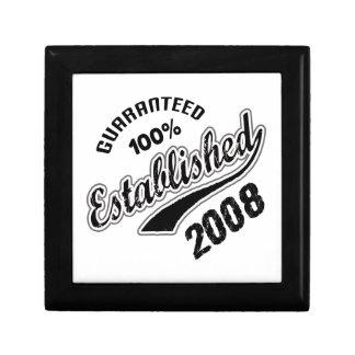 Guaranteed 100% Established 2008 Keepsake Box