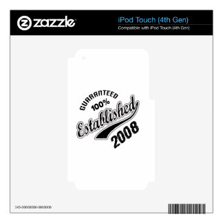 Guaranteed 100% Established 2008 Skins For iPod Touch 4G