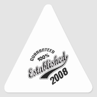 Guaranteed 100% Established 2008 Triangle Sticker