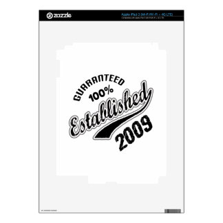 Guaranteed 100% Established 2009 Decals For iPad 3