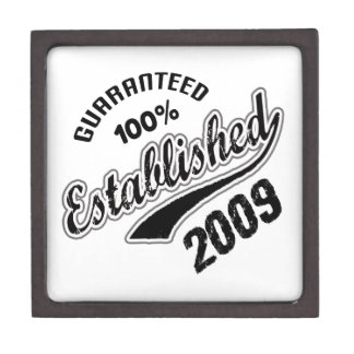 Guaranteed 100% Established 2009 Gift Box