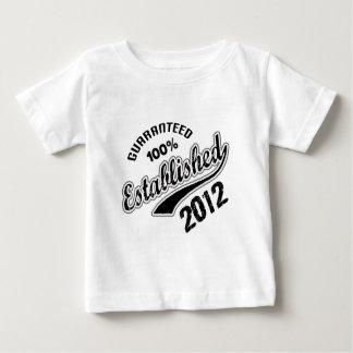 Guaranteed 100% Established 2012 Baby T-Shirt