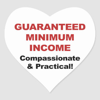 Guaranteed Minimum Income Heart Sticker