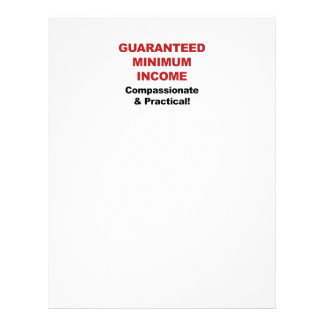 Guaranteed Minimum Income Letterhead