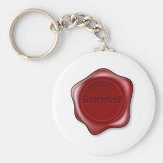 Guaranteed red wax seal key chains