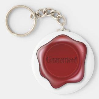 Guaranteed red wax seal keychain
