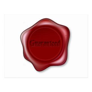 Guaranteed red wax seal postcard